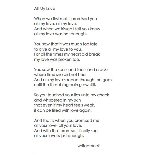 love poem | writeamuck