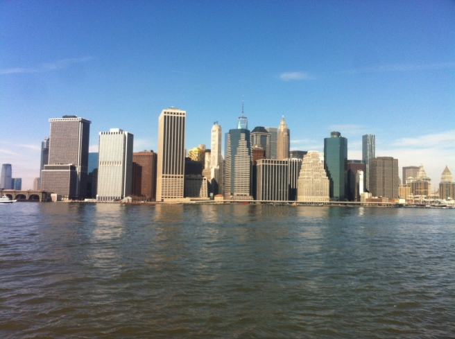 new york from the brooklyn river pier