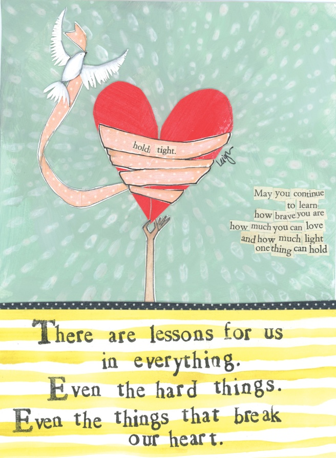 Sympathy Card Curly Girl Designs