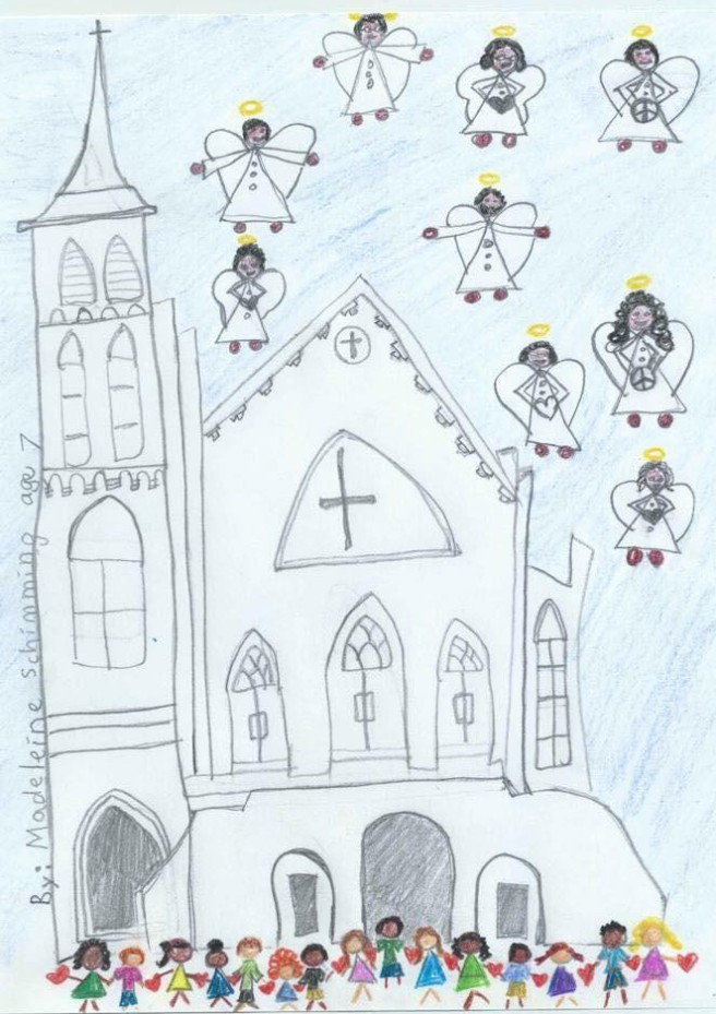 Drawing of Charleston Emmanuel Church after Shooting