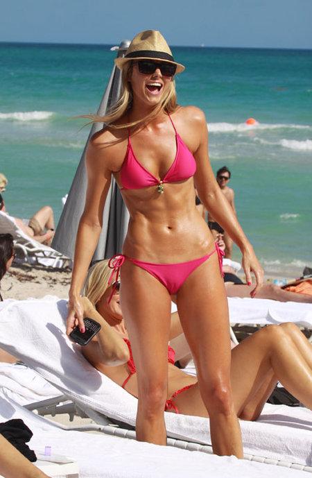 Keibler's bikini body